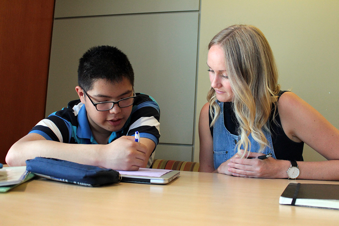a student attending one-on-one tutoring session