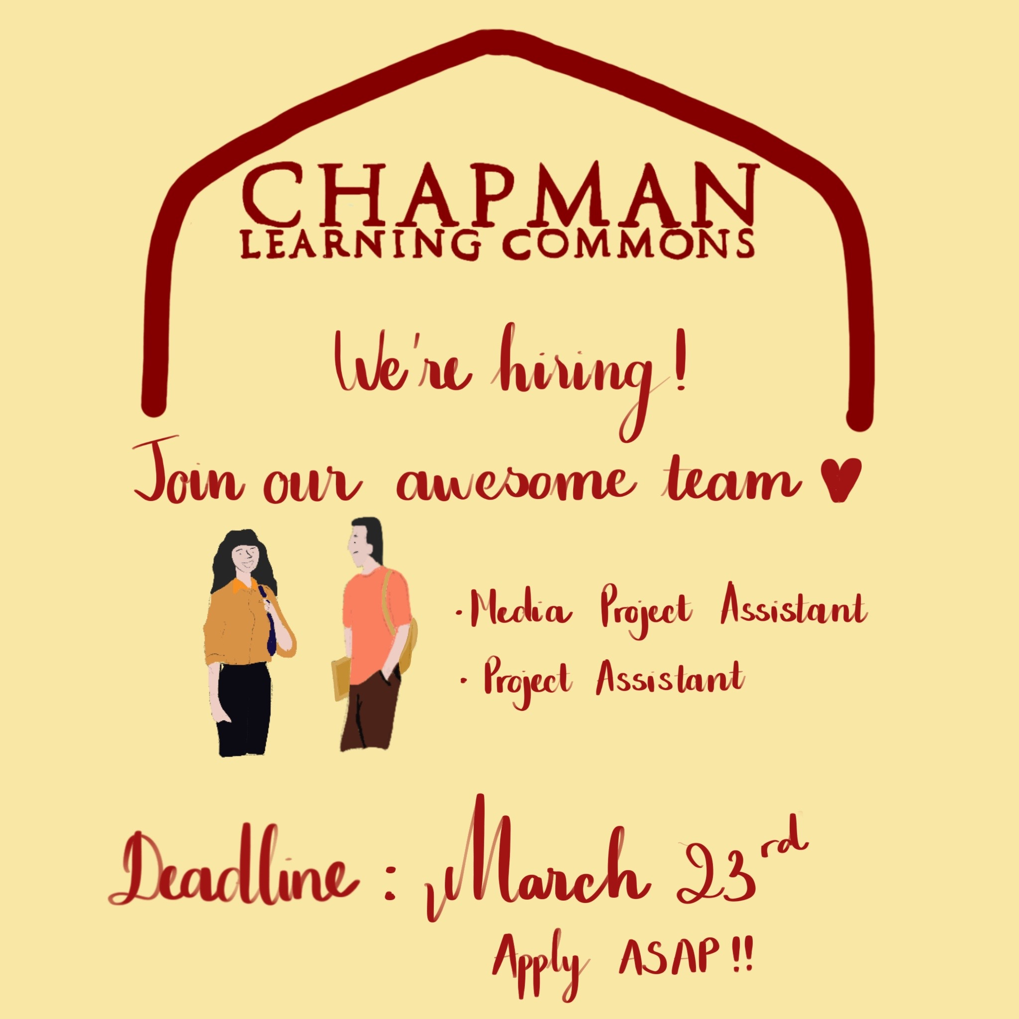 Chapman Learning Commons is Hiring!
