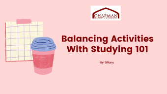 Balancing Activities with Studying Guide: UBC Version 101
